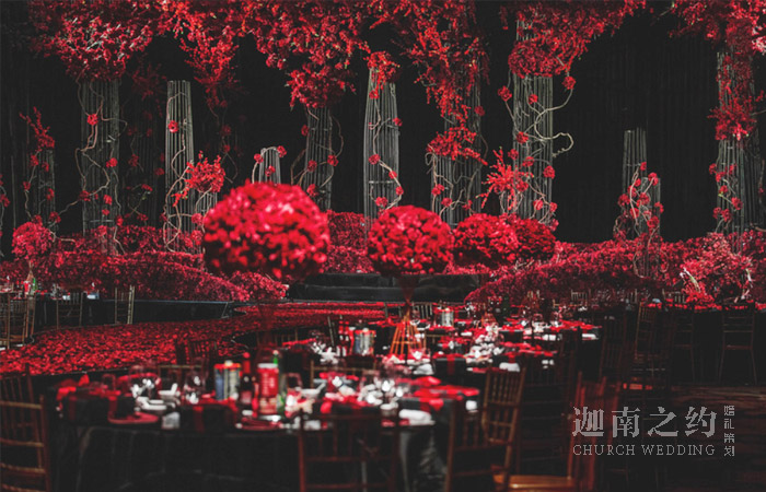 天津红与黑主题婚礼策划_遇到对的人