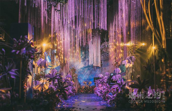 天津酒店婚礼策划案例_紫如你 梦如你